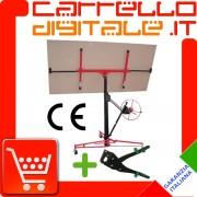 CARRELLO ALZALASTRE CARTONGESSO ALZA LASTRE SOLLEVA PANNELLI + PUNZONATRICE PER PROFILI