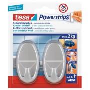 tesa SE tesa Powerstrips® Haken Large Oval matt-chrom