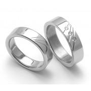Snubní ocelové prsteny ZERO Collection rz05010+rz05011