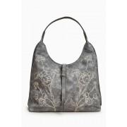 Womens Next Grey Embroidered Hobo Bag - Grey