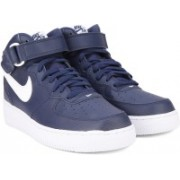 Nike AIR FORCE 1 MID '07 Sneakers For Men(Blue, White)
