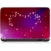 VI Collections Red Heart Printed Vinyl Laptop Decal 15.5