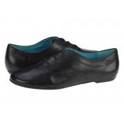 Pantofi casual piele femei s.Oliver Bony negru