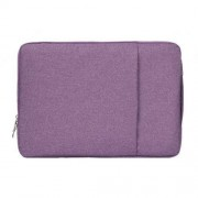 11.6 inch Universal Fashion Soft Laptop Denim Bags Portable Zipper Notebook Laptop Case Pouch for MacBook Air Lenovo and other Laptops Size: 32.2x21.8x2cm (Purple)