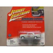 Johnny Lightning American Chrome Classic American Beauties Series White 1955 Chrysler C 300 Old Style Race Car With White Wall Tires Distributed By Playing Mantis 2001