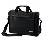 Geen Akte schoudertas/laptoptas 15,6 inch zwart 10 liter