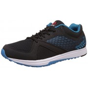 Reebok Men's Reebok Train Black, Far Out Blue and White Leather Multisport Training Shoes - 6 UK/India (39 EU)(7 US)