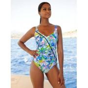 Sunflair Badeanzug mit Netzvorderfutter, weiß