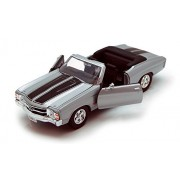 Welly 1971 Chevy Chevelle SS454 Convertible, Silver - 22089 1/24 Scale Diecast Model Toy Car
