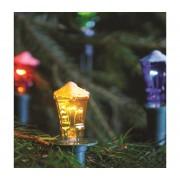 Lanț de crăciun LANTERN 7,7 m 12xE10/20V/230V colorat