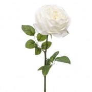 Merkloos Rozen kunstbloem wit 66 cm