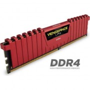 Memorie Corsair Vengeance LPX 4x4GB 2400MHz DDR4 CL14 1.2V, DIMM, Red
