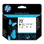 Printhead HP No.72 C9384A black & yelow, DesignJet T610/T1100ps