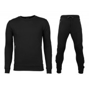 Enos Trainingspakken Basic - Buttons Joggingpak - Zwart