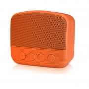 NR-101 Bluetooth Mini Portable Outdoor Subwoofer Speaker with Mic Support USB Drive/TF Card - Orange