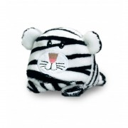 Tigru de plus Bobballs Keel Toys, 10 cm, Alb, 1 an+