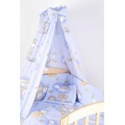 Baldachin patut, ursuletul somnoros, albastru, 150x210 cm