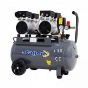 Compresor silentios Stager HM50JW-0.75x2 50L 330L/min