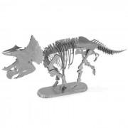 Rompecabezas de bricolaje 3D montado esqueleto de triceratops modelo de juguete - plata