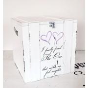 Cutie/cufar pentru bani/dar nunta ''I finally found the one'' Wedding money gift box