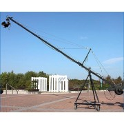 SQ-130 Professional 8m ( 27ft ) square DV jimmy jib crane film & video shooting TV camera crane + 2 Axis Pan Tilt Motorized Head With Joystick Controller