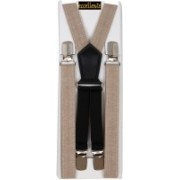 Eccellente Y- Back Suspenders for Men, Women(Beige)
