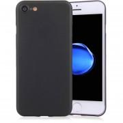 Para IPhone 8 Y 7 Frosted Protector Transparente Volver Funda (negro)