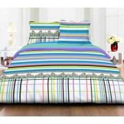 Lenjerie de pat dubla Heinner HR-4BED-132-01, 4 piese, Bumbac, Multicolor