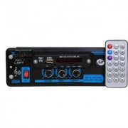 Barry John Car USB Player Double IC HI-FI Sound Bass Treble with Bluetooth/USB/AUX/MMC/FM Car Stereo (Single Din)