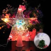 Светеща коледна звезда за елха връх за елха звезда на батерии