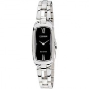 Citizen Analog Black Tonneau Women's Watch-EX1100-51E