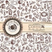 "Papierserviette ""Coffee House"", 33 x 33 cm, 20 Stück"