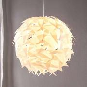 Lampenwelt.com Lámpara colgante Corin de forma esférica, blanco