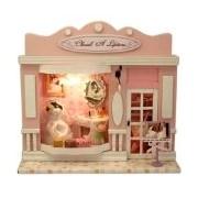Creative Cherish a Lifetime Style DIY European Shop Mini House European Miniature Shop DIY Mini House with Light