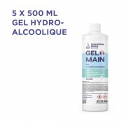LOT DE 5 - GEL HYDRO-ALCOOLIQUE 500ML