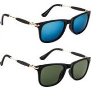 Poloport Wayfarer, Aviator Sunglasses(Blue, Green)