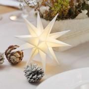 White 18-pointed star 12 cm