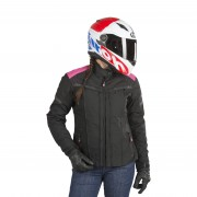 ON BOARD Motorradjacke On Board Lady Essence 4s Schwarz-Rosa