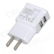 Cargador AC universal dual USB para IPHONE? IPAD? IPOD - Blanco
