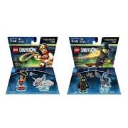 Lego Dimensions Super Ladies Bundle: 1- 71209 Wonderwoman, 1- 71221 Wicked Witch