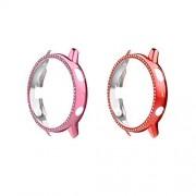 MoKo Juego de 2 fundas protectoras compatibles con Samsung Galaxy Watch Active 2 (44 mm, vidrio diamantes)