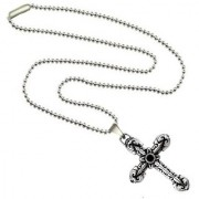 Men Style Best Christmas Gifts Locket Cross Silver Stainless Steel Cross Necklace Pendent For Men And Boys