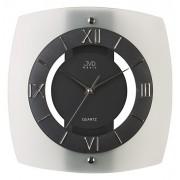 Moderní luxusní skleněné nástěnné hodiny JVD quartz N13.1