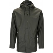 Rains Jacket regenjas unisex Kleur: donkergroen, Maat: S-M donkergroen
