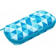 Penar cu fermoar ZIPIT Colorz box - triunghiuri albastre