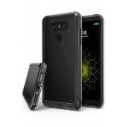 Husa Protectie Spate Ringke Fusion Smoke Black plus folie protectie display pentru LG G6