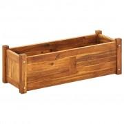 vidaXL Vaso para plantas, madeira de acácia 70x25x25 cm castanho