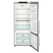 Combina frigorifica Liebherr CNPesf 4613, 420 L, No Frost, Display LED, Alarma usa, Raft sticle, H 186 cm, A++, Inox, finisaj Antiamprenta
