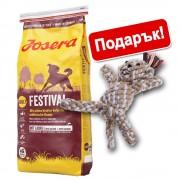15 кг Josera суха храна + играчка за кучета - животинка от памучно въже - YoungStar