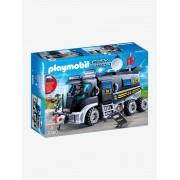 Playmobil 9360 Camião da polícia das forças especiais com sirene, da Playmobil preto medio liso com motivo